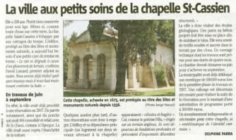 La ville aux petits soins de la chapelle St-Cassien