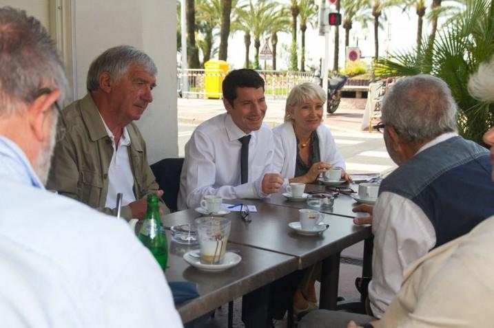 David Lisnard café Sandra