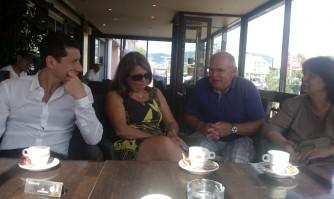 David Lisnard rencontre des Boccassiens lors d'un café convivial