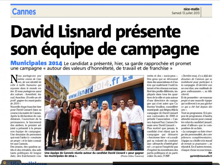 Equipe de campagne de David Lisnard
