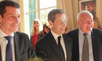 David Lisnard accueille Nicolas Sarkozy à Cannes