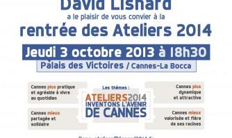 Rentrée des ateliers 2014 « inventons l'avenir de Cannes » avec David Lisnard