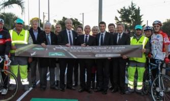 """Inauguration de la piste cyclable départementale """"La Littorale"""""""
