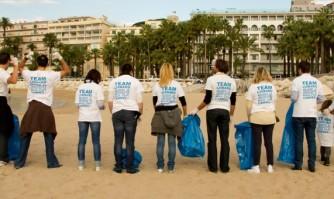 Les jeunes de la Team Lisnard  se mobilisent pour la propreté de la ville