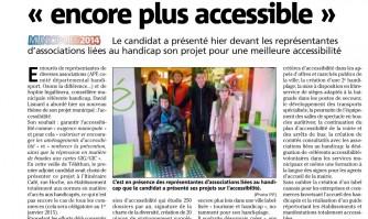 """David Lisnard veut une ville """"encore plus accessible"""""""