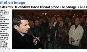 """Galette des rois : le candidat David Lisnard prône """"le partage"""" à La Bocca"""