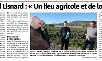 """David Lisnard : """"Un lieu agricole et de loisirs"""""""