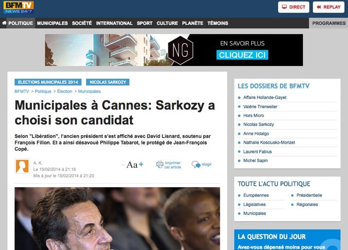 Municipales à Cannes: Sarkozy a choisi son candidat