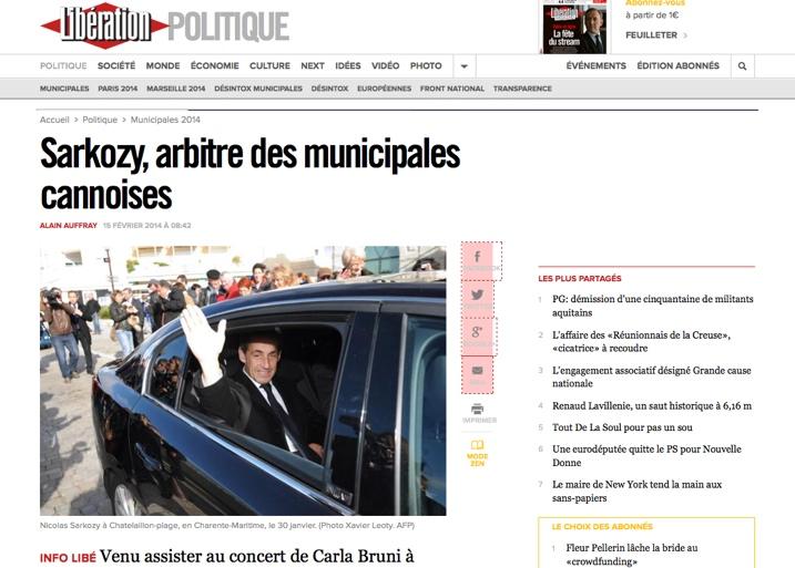 Sarkozy, arbitre des municipales cannoises