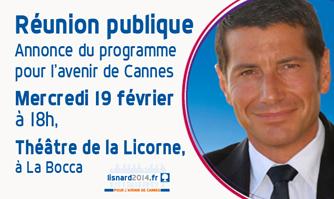 Annonce du programme de David Lisnard - Réunion publique