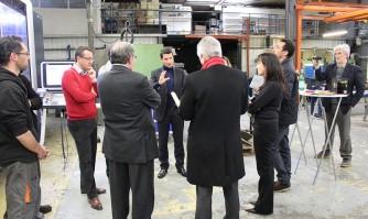 David Lisnard visite l'entreprise France Hélices