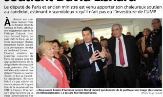 Le député Bernard Debré soutient David Lisnard