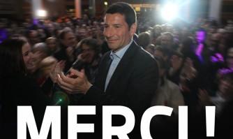 Réaction de David Lisnard au résultat du 2e tour des élections municipales à Cannes