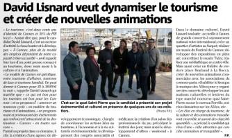 David Lisnard veut dynamiser le tourisme et créer de nouvelles animations