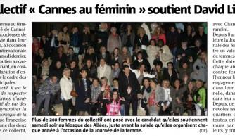 """Le collectif """"Cannes au féminin"""" soutient David Lisnard"""