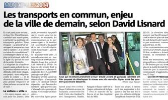 Les transports en commun, enjeu de la ville de demain, selon David Lisnard
