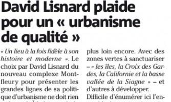 """David Lisnard plaide pour un """"urbanisme de qualité"""""""