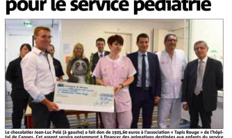 David Lisnard salue le don de Jean-Luc Pelé en faveur des enfants hospitalisés