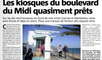 Les kiosques du boulevard du Midi quasiment prêts
