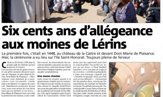 600 ans d'allégeance aux moines de Lérins