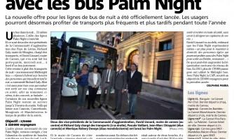 Plus loin dans la nuit avec les bus Palm Night