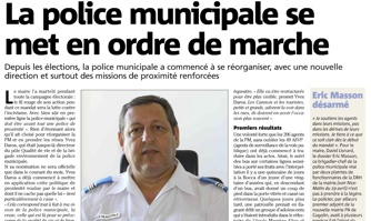 La police municipale se met en ordre de marche