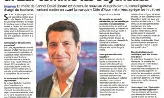 Interview de David Lisnard sur l'avenir du tourisme azuréen