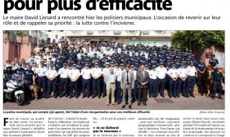 Une police réorganisée pour plus d'efficacité