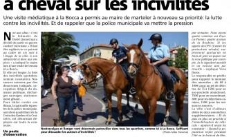 Le municipalité très à cheval sur les incivilités
