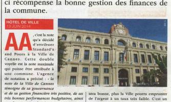 Double A pour la Ville de Cannes