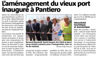 L'aménagement du vieux port inauguré à Pantiero