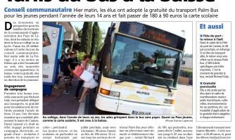 Tarifs du bus à la baisse