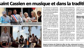 La saint Cassien en musique et dans la tradition