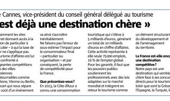 """Taxe de séjour : """"La France est déjà une destination chère"""""""