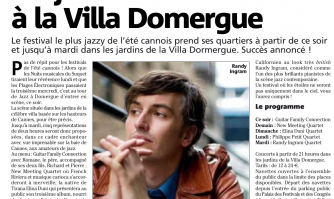Du jazz à la belle étoile à la villa Domergue