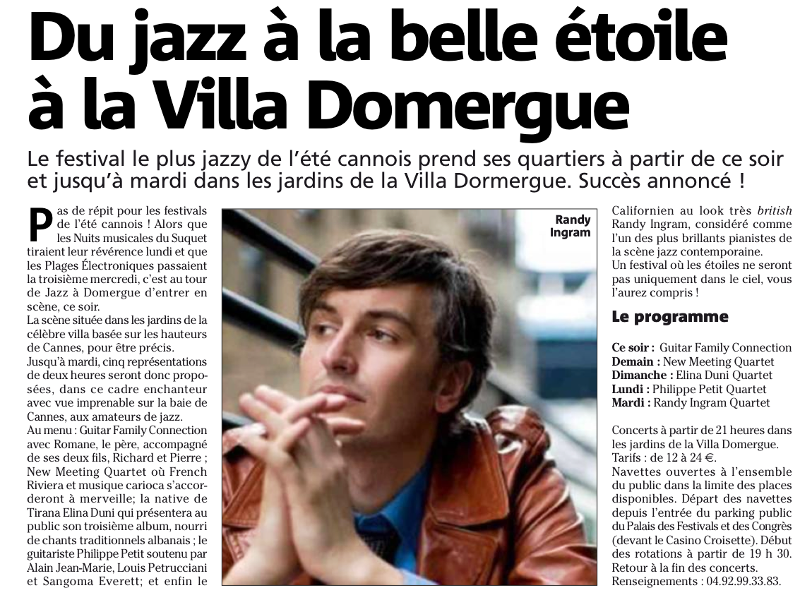 Du jazz la belle toile la villa domergue david lisnard - La plus belle etoile ...