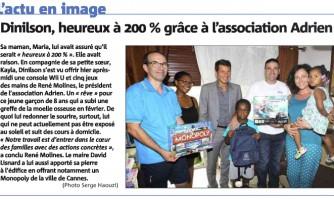 Dinilson, heureux à 200% grâce à l'association Adrien