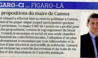 Figaro-ci... Figaro-là : les propositions du maire de Cannes