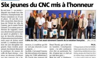 Six jeunes du CNC mis à l'honneur