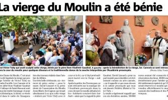 La vierge du Moulin a été bénie