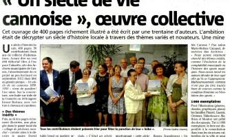 """""""Un siècle de vie cannoise"""", oeuvre collective"""