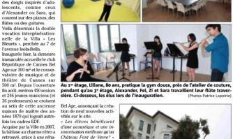 """""""Les Bleuets"""" : fleur de l'âge et jeunes notes"""