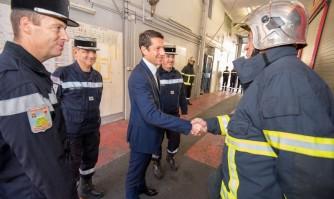 David Lisnard en visite chez les Pompiers