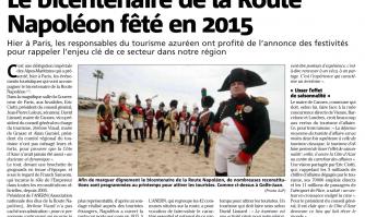Le bicentenaire de la Route Napoléon fêté en 2015