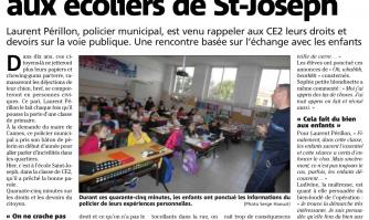 Petite leçon de civisme aux écoliers de St-Joseph