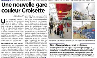 Une nouvelle gare couleur Croisette