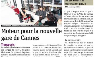 Moteur pour la nouvelle gare de Cannes