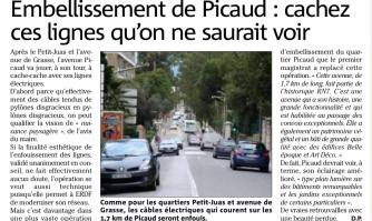 Embellissement de Picaud : enfouissement des câbles aériens