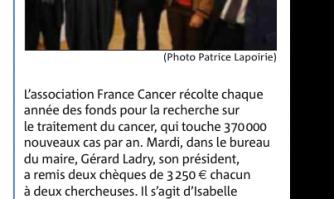 France Cancer : des bouchons pour la recherche