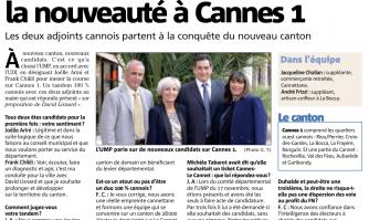 L'UMP joue la nouveauté à Cannes 1